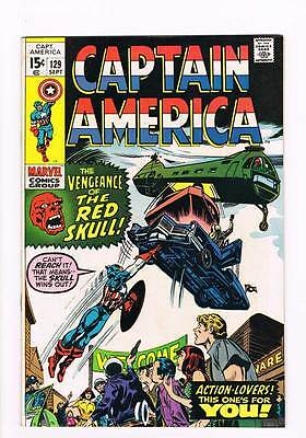 Captain America # 129  The Vengeance of the Red Skull ! grade 5.0 scarce book !