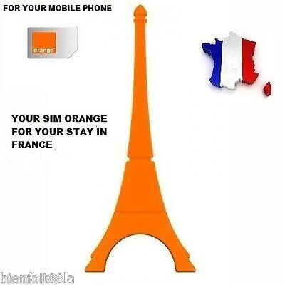 French Simcard Orange/pay As You Go+ 5 € Of Free Credit