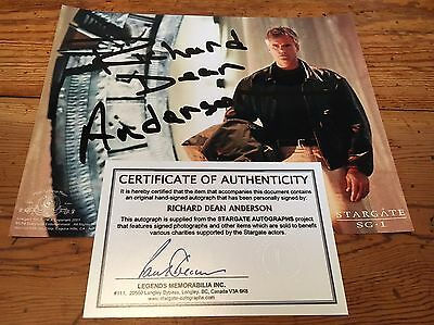 RICHARD DEAN ANDERSON signed STARGATE photograph COA From Legends