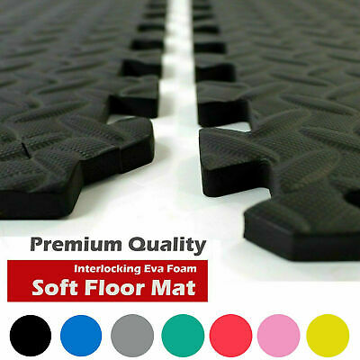 Thick Interlocking Soft Foam Floor Mats Gym Exercise House Office Play Mat Tiles