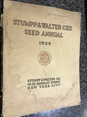 Stumpp & Walter Co  1924 Seed Annual