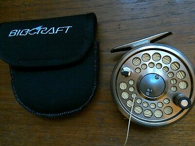 Shimano Biocraft XT 56 fly reel and pouch+ fly line