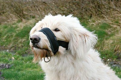 Large Black Nylon Muzzle Loop with Extra Soft Padding For Dogs By Trixie