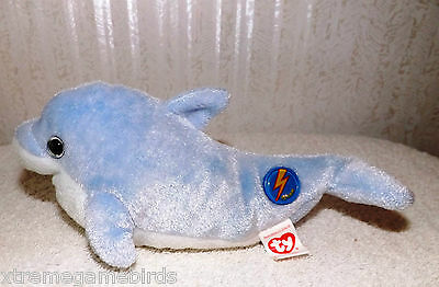 TOYS - TY Beanie Babies 2.0 Clipper Dolphin with tags