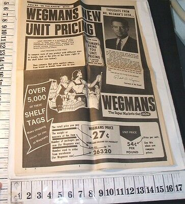 1972 Wegmans Supermarket Introduces Unit Pricing Canandaigua