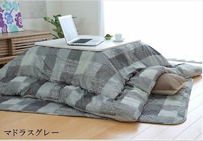 New Fluffy Kotatsu Futon & Mat Set for 75-80cm table EMS F/S from JAPAN