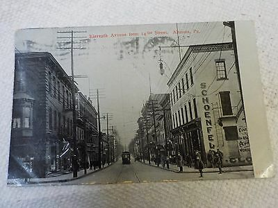 1909 Postcard Eleventh Street From 14Th St, Altoona Pa.