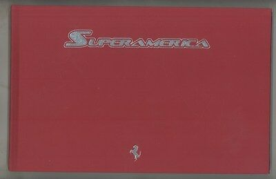 2005 2006 Ferrari Superamerica Prestige Book Brochure English Italian ww4152