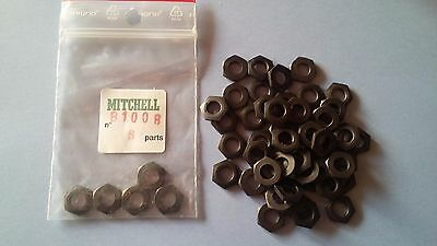 50 HEX NUT BLACK PART 81008 REEL 300 & autres MOULINETS MITCHELL ECROU CLOCHE