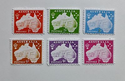 Gerald King Full set of 1937 AUSTRALIA MAP Cinderella Stamps - RARE