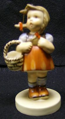 SCHMID 1984 PORCELAIN GIRL WITH BASKET Figurine Collectible