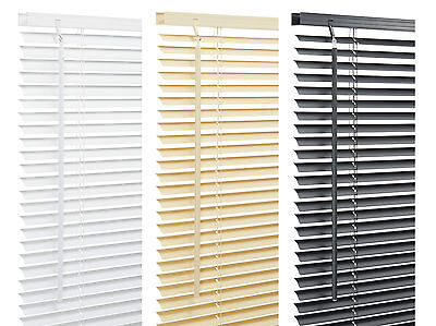 PVC Venetian Blinds 9 Lengths and 3 Colors White,Black and Beech
