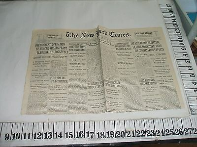 1933 Muscle Shoals Fdr Pledges Government Operation