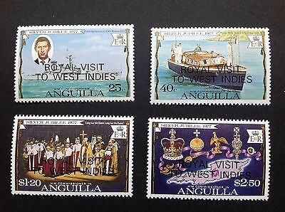 Anguilla 1977 West Indies Overprint Silver Jubilee Stamps MNH !