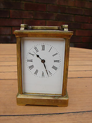 French Carriage Clock R & Co Paris Four Glass 19th Century France Global Ship