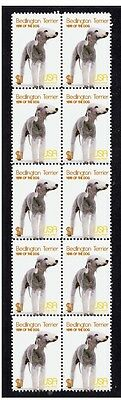 Bedlington Terrier Year Of The Dog Strip Of 10 Mint Stamps 2