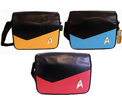 Star Trek Crew Gelb Rot Blau Yellow Red Blue Messenger Bag Umhänge Kurier Tasche