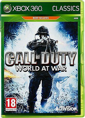 Call of Duty World at War Xbox 360 Xbox One Compatible Brand New Factory Sealed