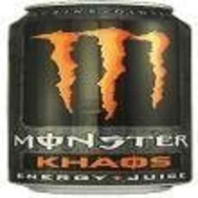 Monster Energy Drink, Khaos, 16-Ounce Cans (Pack of 8)