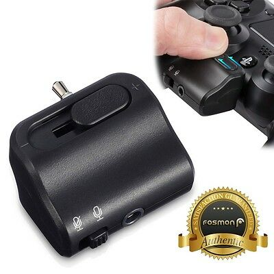 3.5mm TRRS Volume Mute Audio Control Earbuds Headset Adapter for PS4 Controller