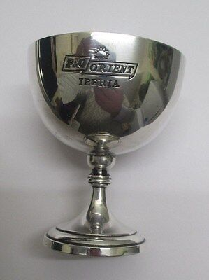 RARE 1950/60s VINTAGE MAPPIN & WEBB SILVERPLATE GOBLET FOR P&O ORIENT IBERIA