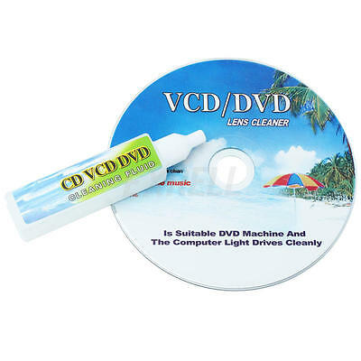 CD/DVD/VCD Lens Cleaner + Cleaning fluid Disc Scratch Cleaner Remover Skipping K