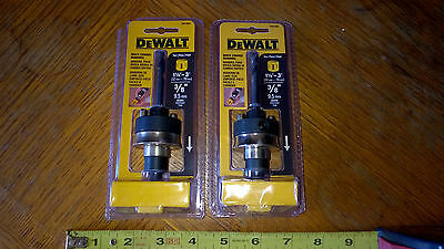 "Lot of 2 Brand New DeWalt Quick Change Hole Saw Mandrels DW1805 3/8"" Shank"