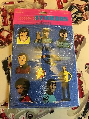 Vintage Hallmark Star Trek Stickers -4 Sheets -NEW -FREE S&H -1990 -Ambassador