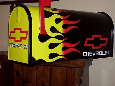 Hotrod Mailbox Chevrolet Chevy Flamed Fullsize Postmaster Approved Awesome.....