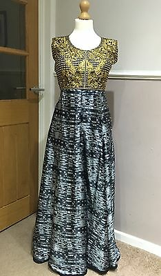 Beautiful Black And Gold Indian Anarkali Outfit