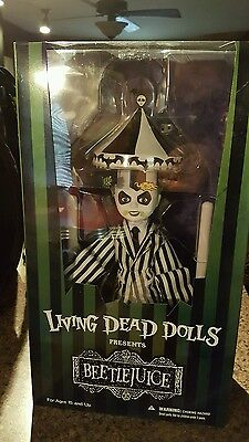 """New Mezco Toyz Living Dead Dolls """"showtime Beetlejuice"""" Collectible In Stock"""