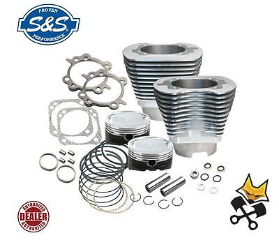 """S&s 4-1/8"""" Big Bore 124"""" Cylinder & Piston Kit Harley 1999-06 Twin Cam 910-0215"""