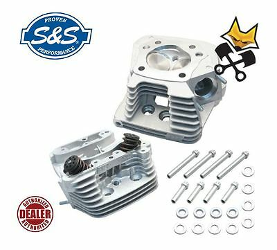S&s Super Stock Cylinder Heads W/ Head Bolts Harley 1984-99 Evo 90-1004 Natural