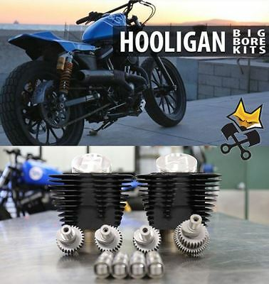 S&s Hooligan 883 To 1200 Cylinder Piston & Cam Kit Harley 2000-'17 Sportster Blk