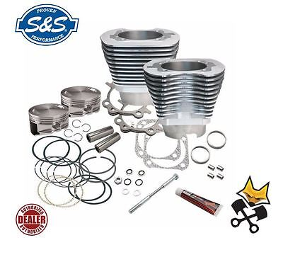 """S&s 4-1/8"""" Big Bore 124"""" Cylinder & Piston Kit Harley 1999-06 Twin Cam 910-0214"""
