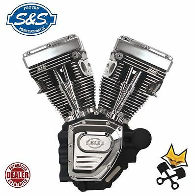 "S&s T124 Long Block 124"" Engine Motor Harley '07-Up Twin Cam Touring 310-0401"