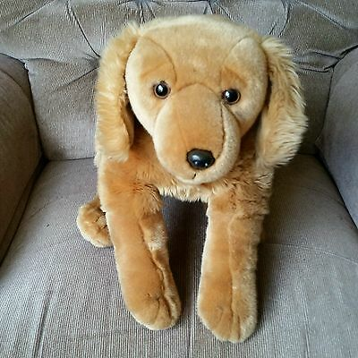 Animal Alley GOLDEN RETRIEVER Large 19in Golden Brown Smooth Soft Plush Dog 2000