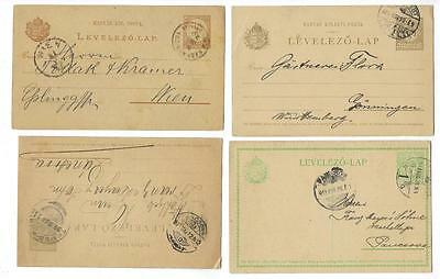 4 Early Hungary Postal Cards - Unchecked (#J161)
