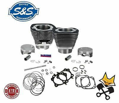 S&s 124″ Hc Big Bore Cylinder & Piston Kit 2007-Up Harley Twin Cam Blk 910-0338