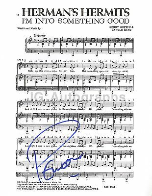 Herman's Hermits - Peter Noone - Authentic Autographed Sheet Music