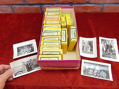 17 Vintage 8mm Film Reels 1939-1948 INDIANA HOME MOVIES Lake Football Car Race