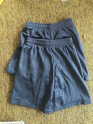 Arrowwear Athletic NAVY UNIFORM GYM SHORTS YM MED