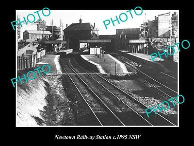 OLD LARGE HISTORIC PHOTO OF NEWTOWN, SYDNEY NSW, RAILWAY STATION c1895
