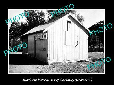 Old Large Historic Photo Of Murchison Victoria, The Railway Station 1930