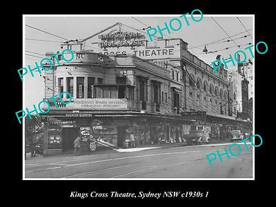 OLD LARGE HISTORICAL PHOTO OF THE KINGS CROSS THEATRE, SYDNEY NSW c1930 1