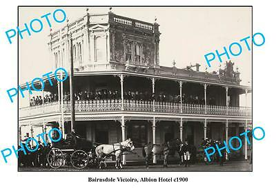 OLD LARGE PHOTO, BAIRNSDALE VICTORIA, ALBION HOTEL c1900
