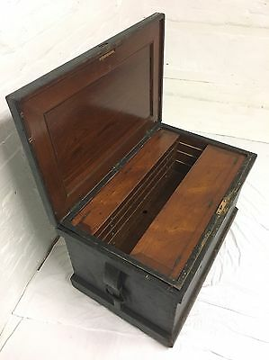 Rare Victorian Campaign Shipbuilders Tool Carpentry Chest Walnut Fitted Interior