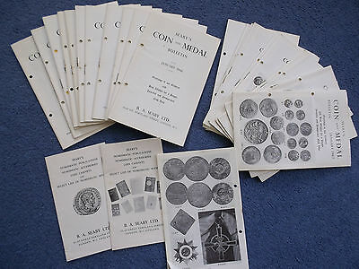 22 1960's Vintage Seaby's Coin & Medal Bulletins