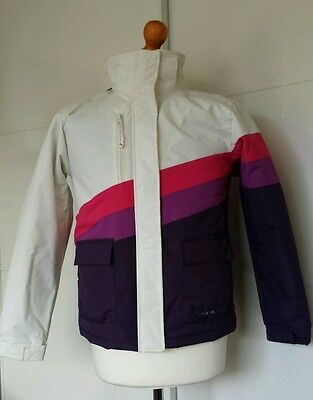 Girls Parallel Technical Wear Ski Jacket, Age 13 - 14 yrs, White / Pink / Purple