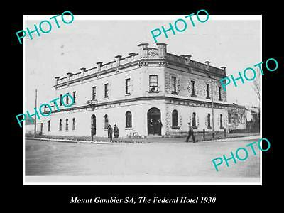 OLD LARGE HISTORICAL PHOTO OF MOUNT GAMIBER SA, THE FEDERAL HOTEL c1930